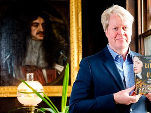 Earl Charles Spencer made a visit to Boscobel House in Bishops Wood to promote his book about King Charles II