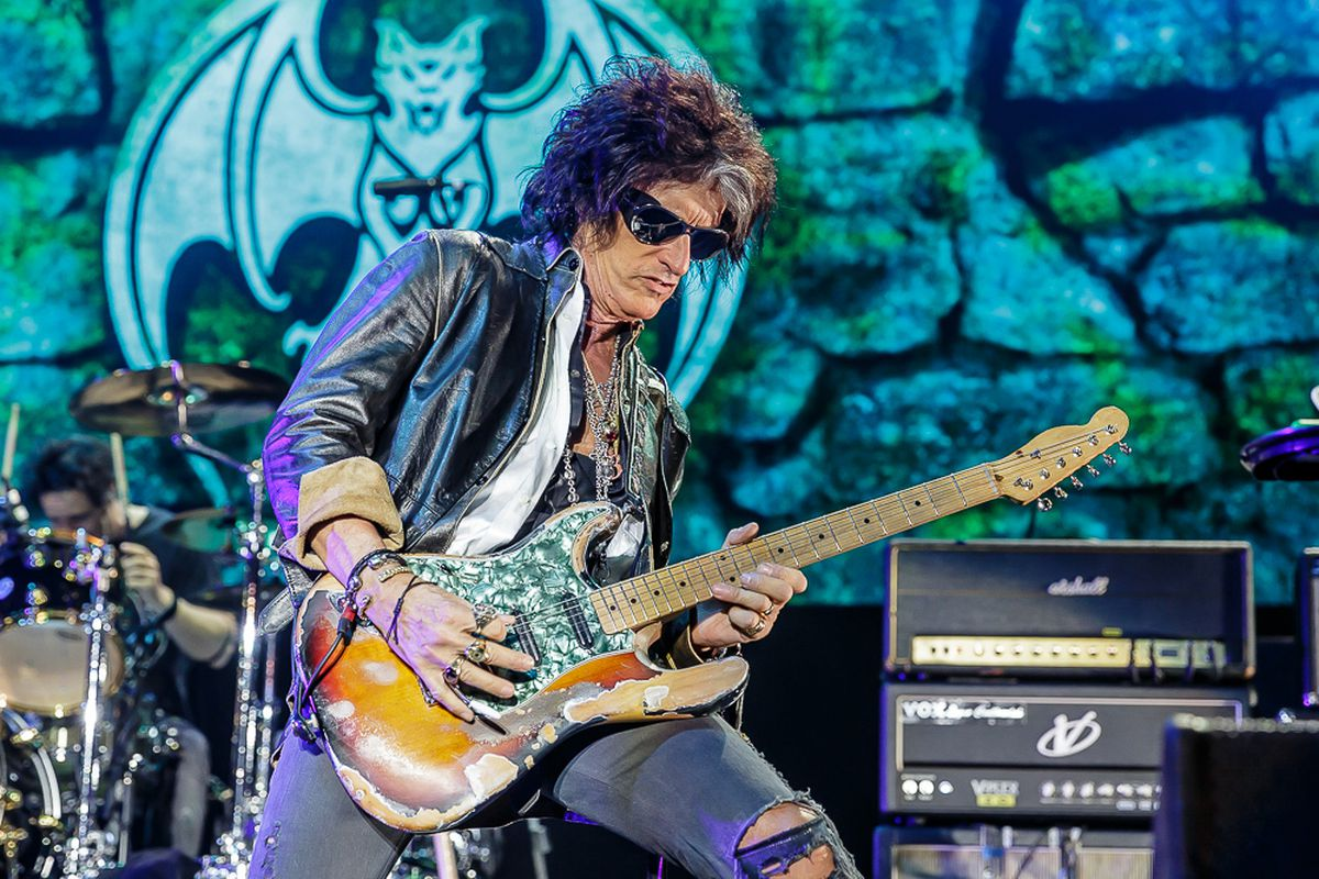 Joe Perry on stage with the Hollywood Vampires. Photo: Chris Bowley