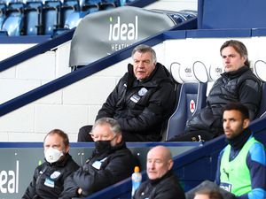 "West Bromwich Albion manager Sam Allardyce watches on during the Premier League match at The Hawthorns, West Bromwich. Picture date: Monday April 12, 2021. PA Photo. See PA story SOCCER West Brom. Photo credit should read: Michael Steele/PA Wire...RESTRICTIONS: EDITORIAL USE ONLY No use with unauthorised audio, video, data, fixture lists, club/league logos or ""live"" services. Online in-match use limited to 120 images, no video emulation. No use in betting, games or single club/league/player publications.."