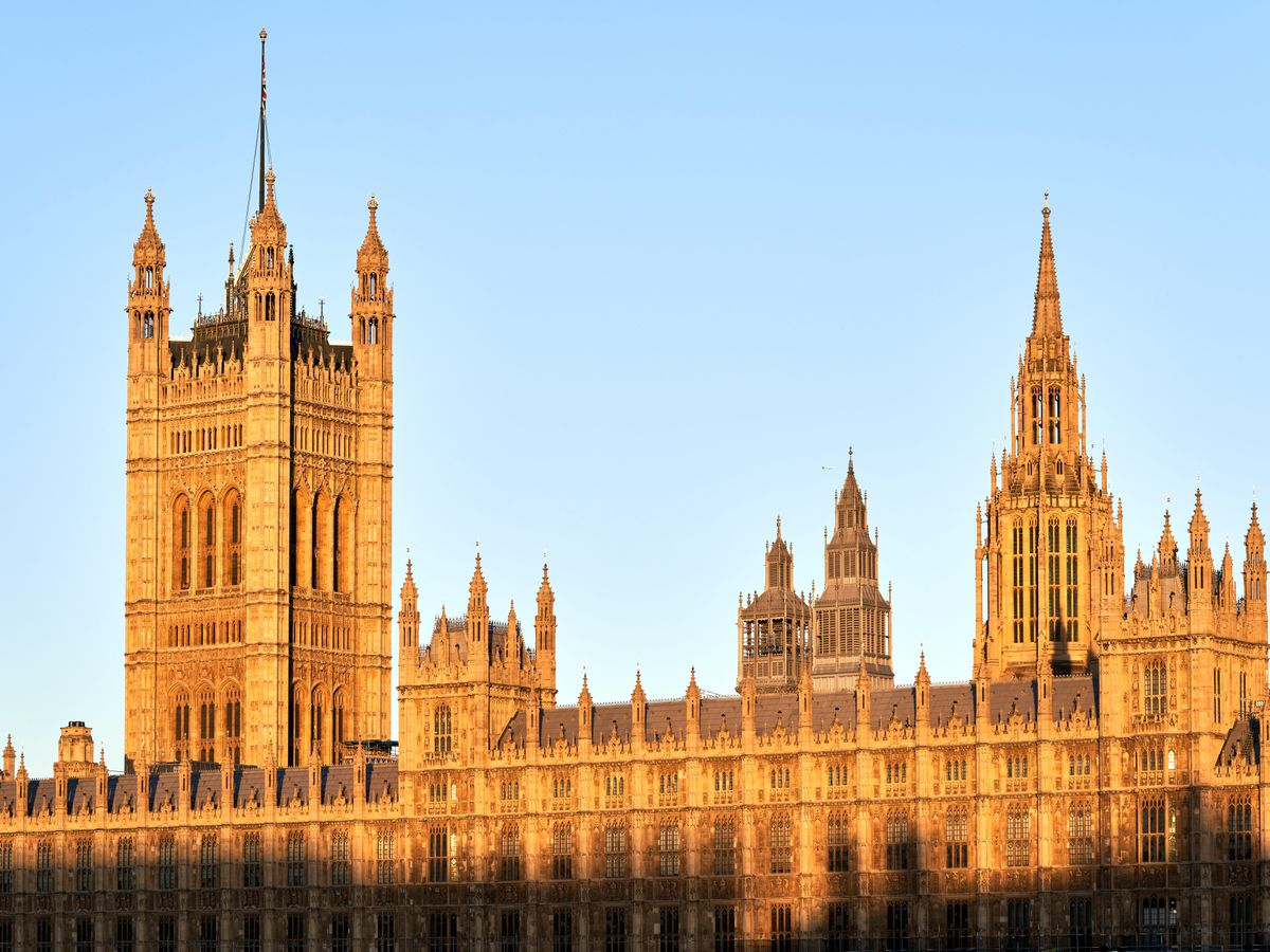 The Houses of Parliament in early morning sunshine