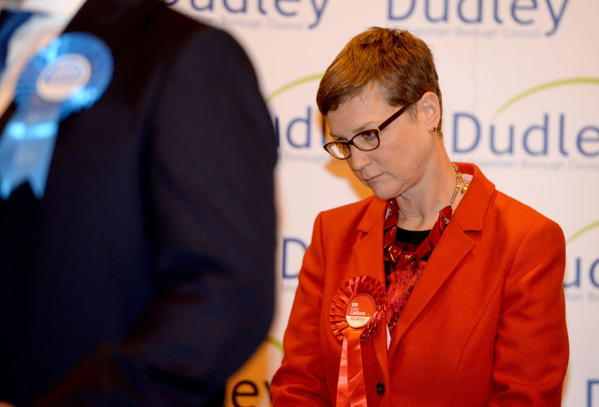 Disappointment for Labour's Dudley South candidate Lucy Caldicott