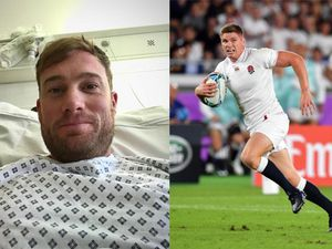 Rob Lewis in hospital and England's Owen Farrell
