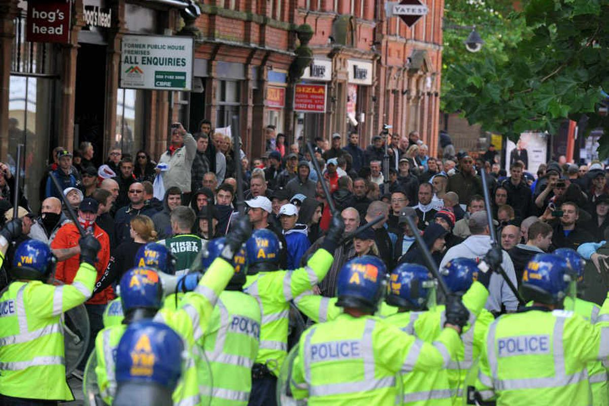 Seven admit playing a part in Walsall EDL protest violence