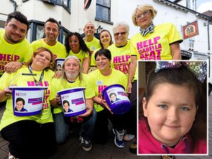 The charity event at the New Inn to raise money for Isabella Lyttle, inset