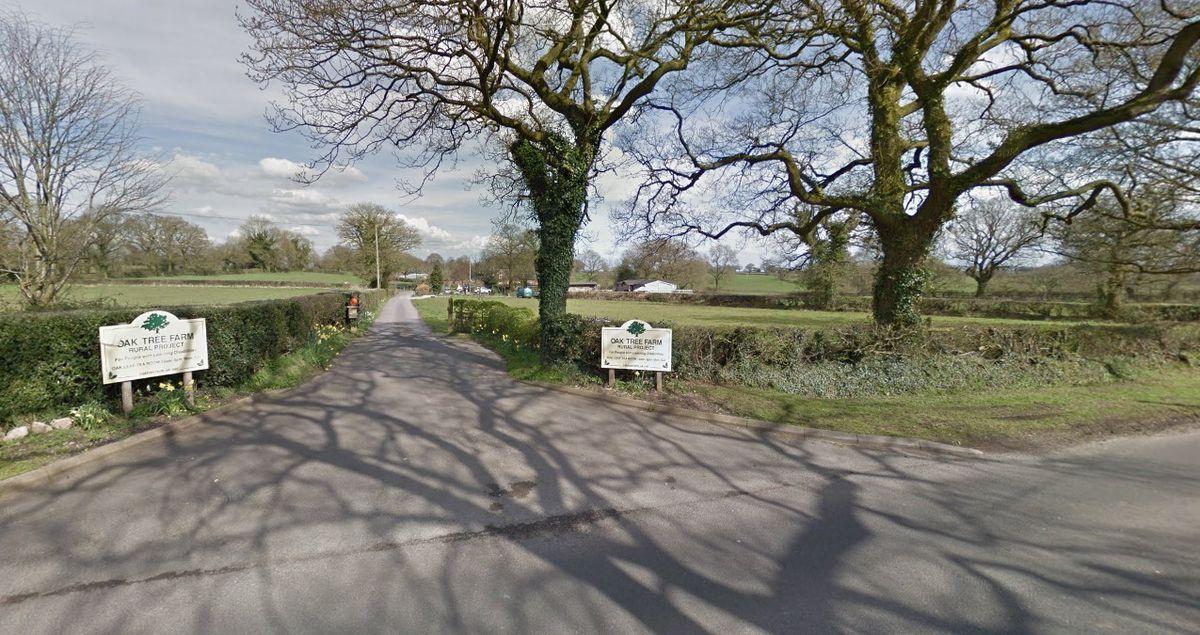 Entrance To Oak Tree Farm Rural Project Near Stone - picture: Google Street View