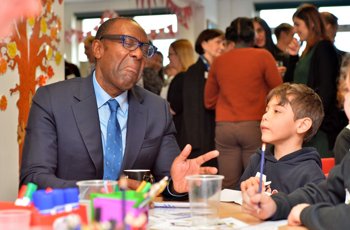 Sir Lenny Henry meets seven-year-old Sebastian Coman