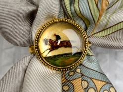 Scarf ring depicting former prime minister's horse to be sold