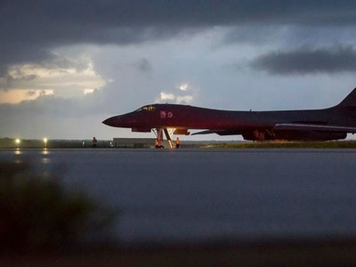 US flies bombers in show of military might to North Korea