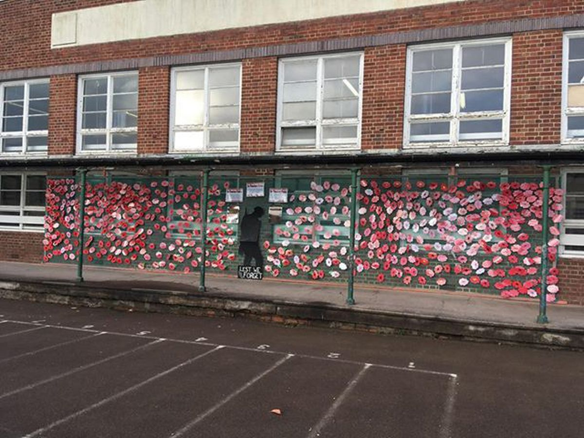 Pennyhill Primary in West Bromwich made this display in the playground. Photo: Carla Smith