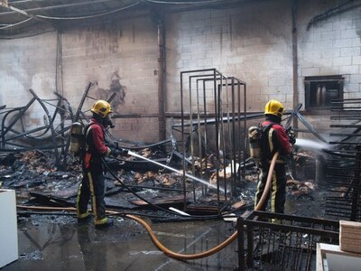 Photos reveal devastating aftermath of Black Country factory fire