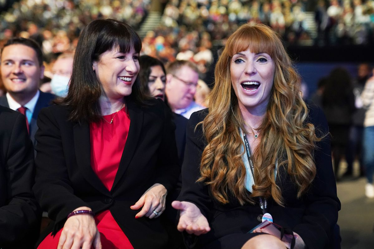 Deputy leader Angela Rayner (right) with Shadow Chancellor Rachel Reeves