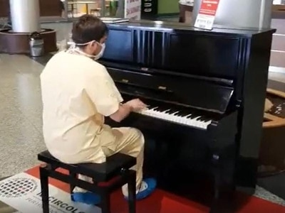 Uplifting news: Doctor's piano performance and meals for NHS workers