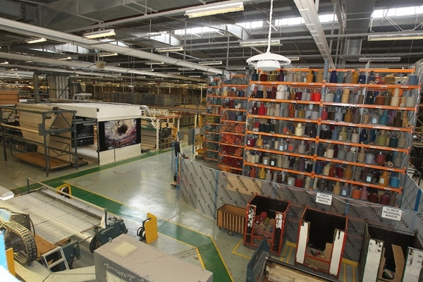 Kreals Of Yarn At Brintons Carpet Factory In Kidderminster