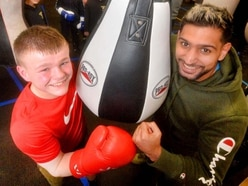 GALLERY: Amir Khan boxes clever with Willenhall youngsters