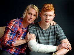 Mother's plea over knife crime after son stabbed in arm during park robbery