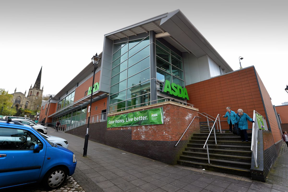 The incident happened at the Asda in George Street at 4.45pm on Friday