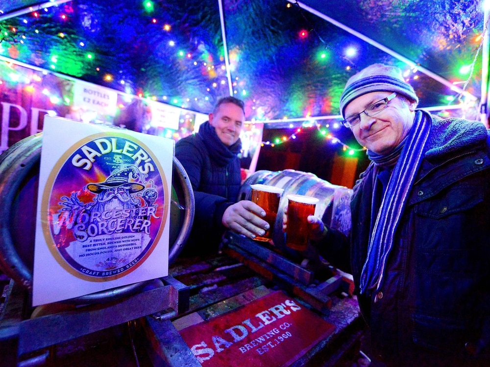 Families brave wintery weather for Stourbridge street food fair - with pictures