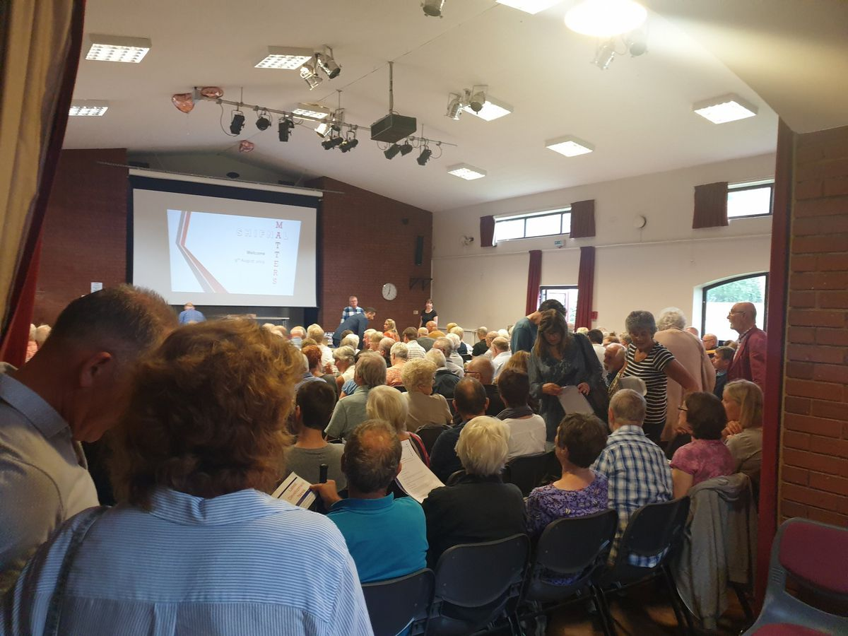 Hundreds of people packed into Shifnal Village Hall to discuss the plans