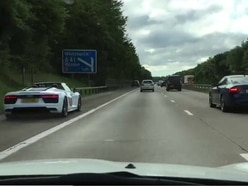 'Like something from Fast and Furious' as sports cars race down M54 hard shoulder - WATCH