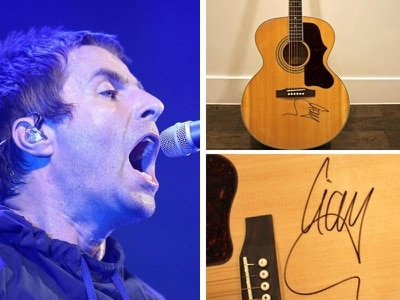 Liam Gallagher signed guitar stolen from the house of a blind woman in Birmingham