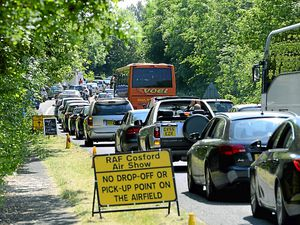 Traffic chaos seen in previous years at Cosford Air Show