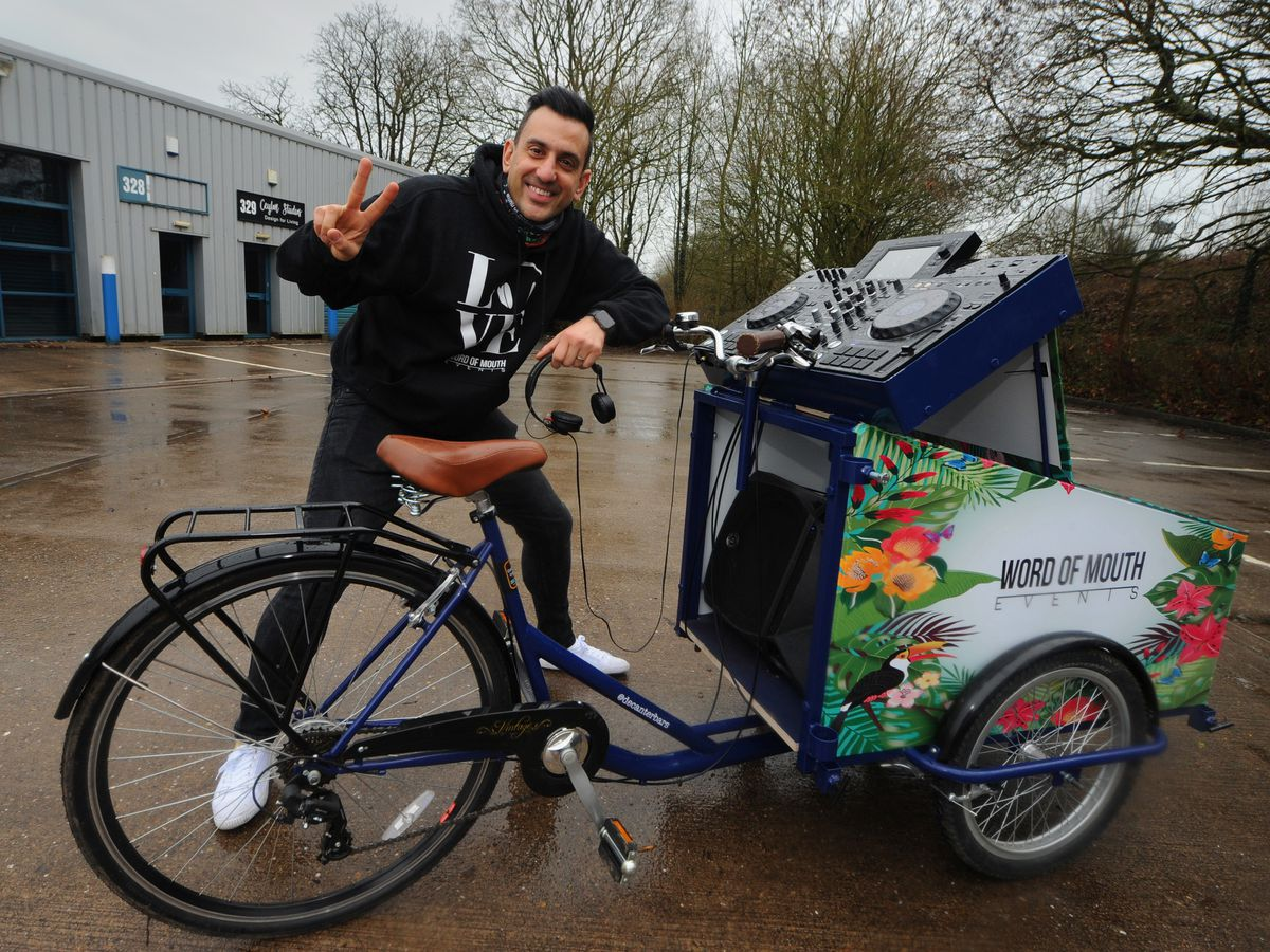 Stuart Ojelay is looking forward to getting out and about on his new trike
