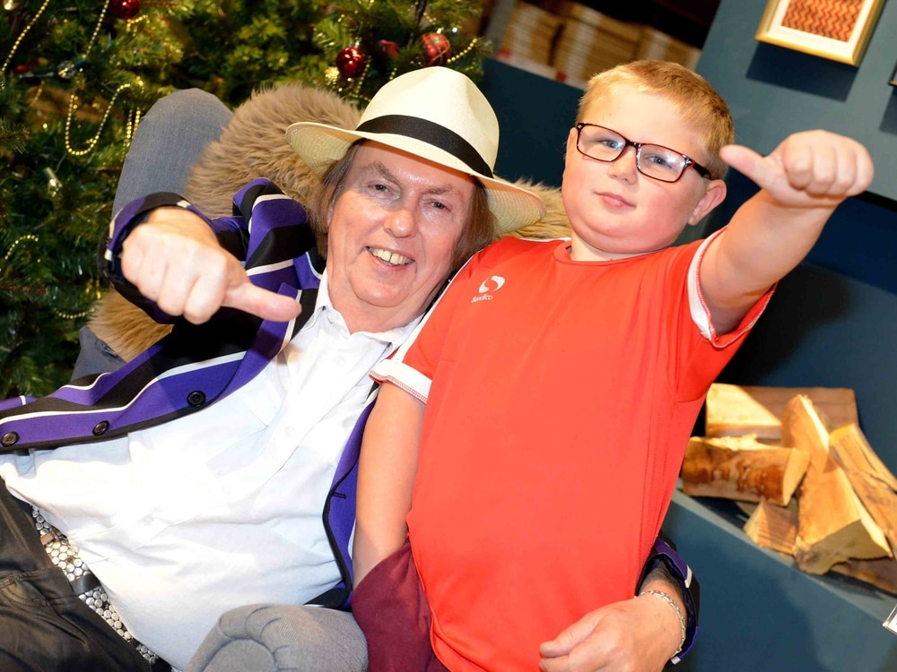 Merry Christmas everybody! Slade star Dave Hill launches festivities at IKEA Wednesbury