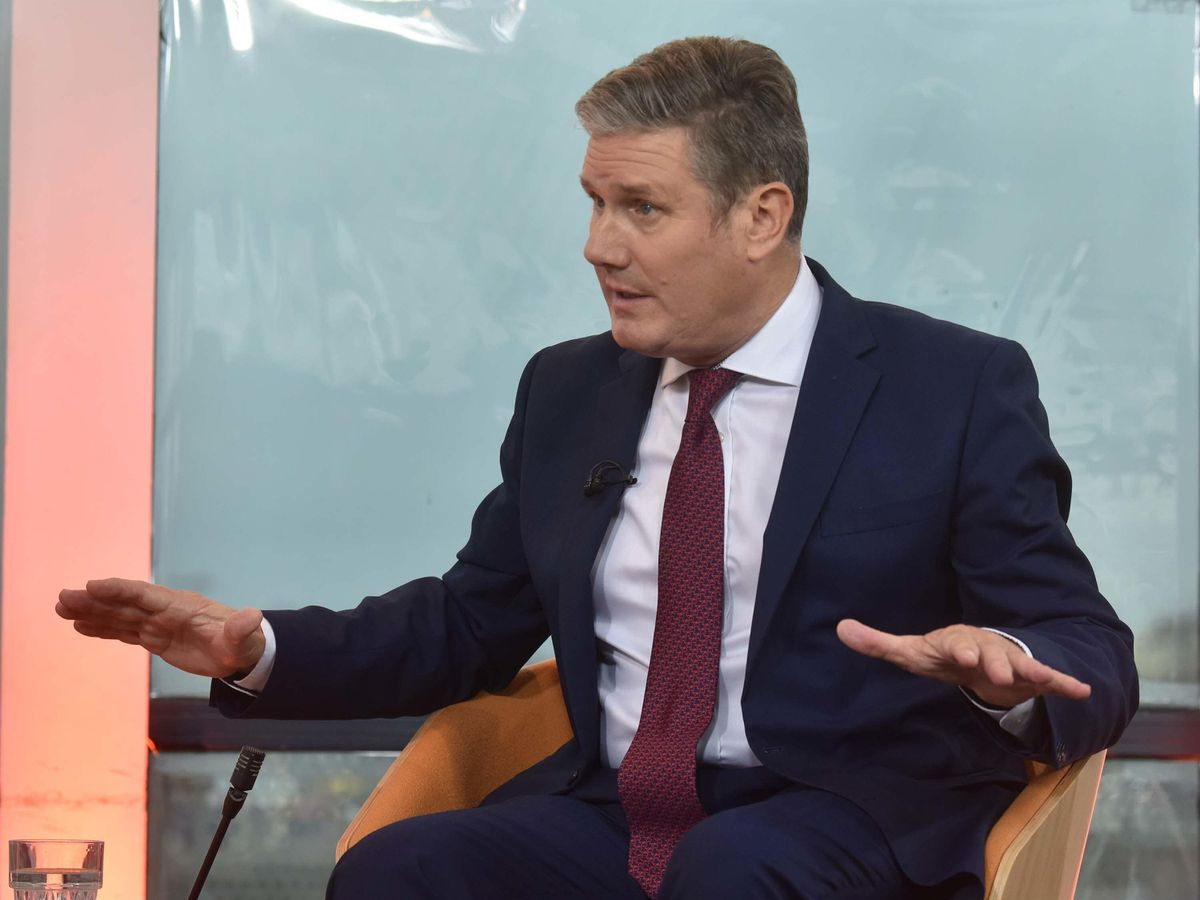 Labour Party leader Sir Keir Starmer appearing on the BBC's The Andrew Marr Show