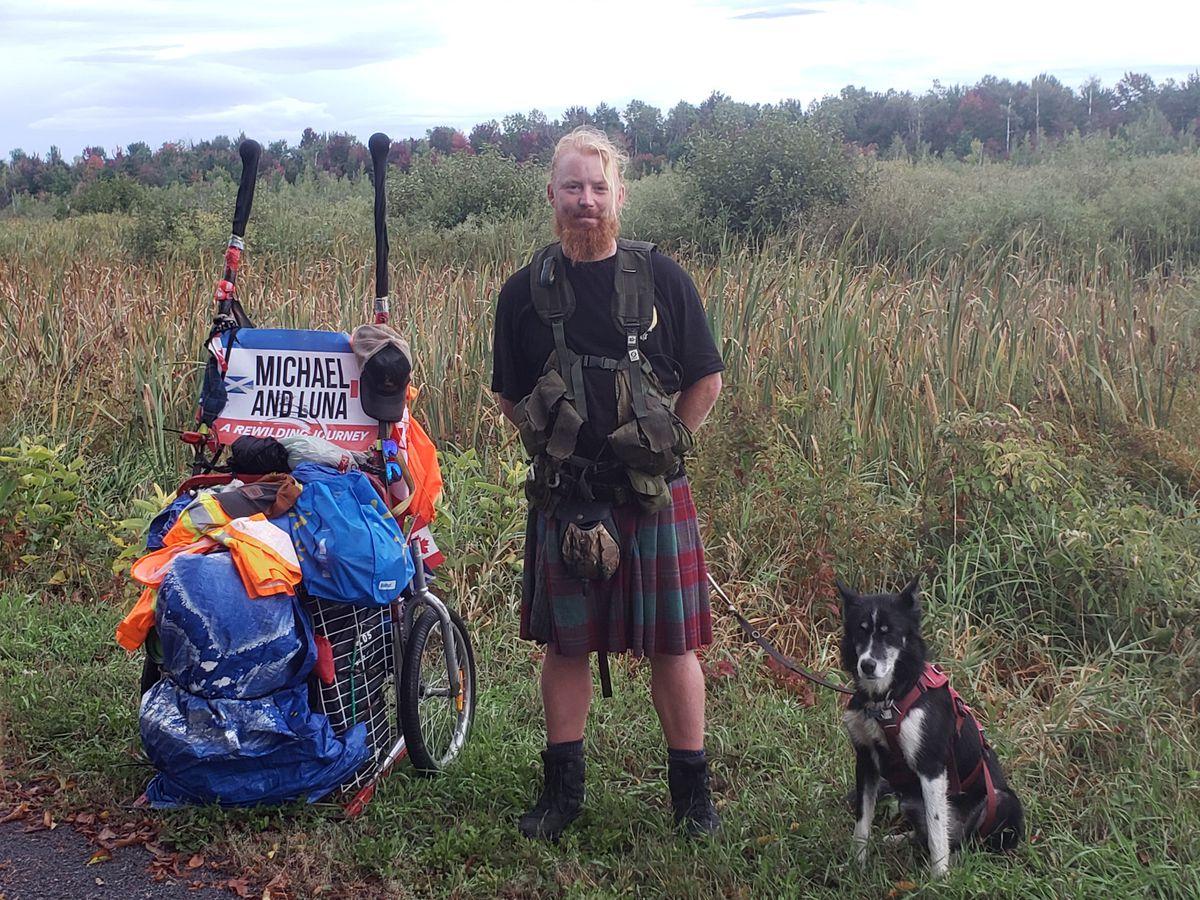 Michael Yellowlees and his dog Luna