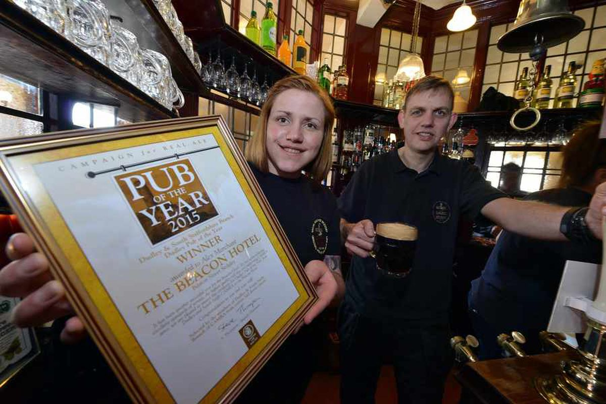 Staff raise a glass as Sedgley pub named best in Dudley and South Staffordshire