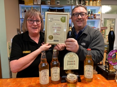 Staffordshire business handed cider award by CAMRA