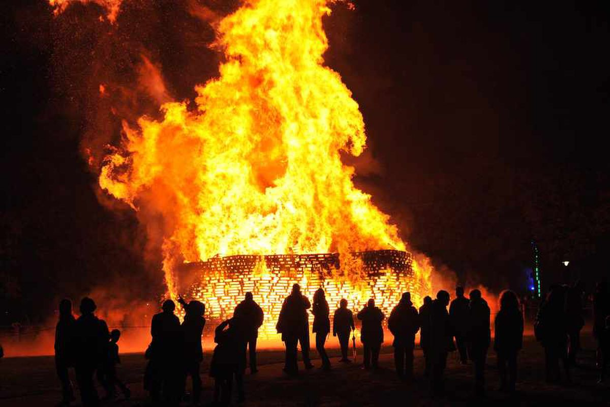 Dartmouth Park fireworks display: Lucky escape as yob throws firework near pram