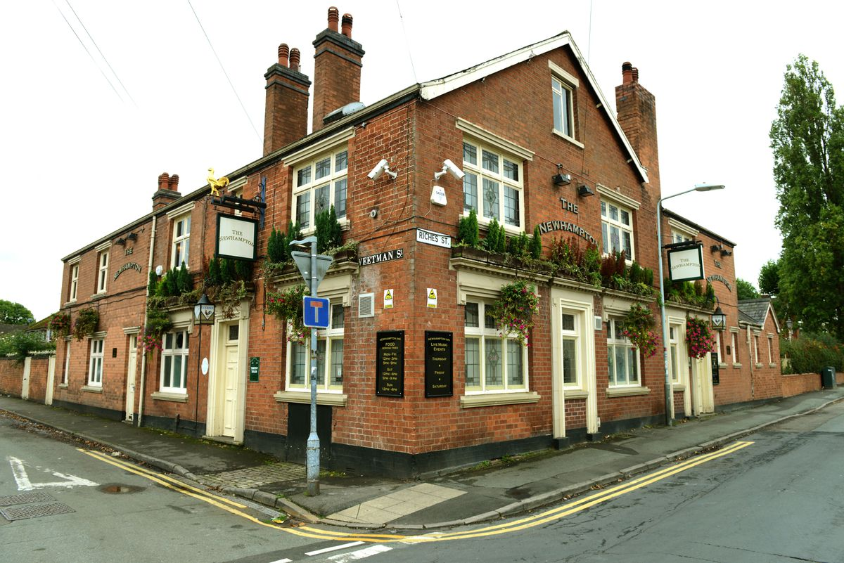 The Newhampton Pub in Riches Street, Wolverhampton, which has suddenly closed and shut down its website