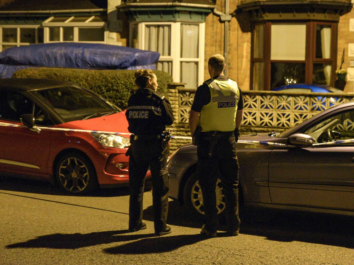 Police cordoned off part of this street in Erdington following the stabbing. Photo: @SnapperSK
