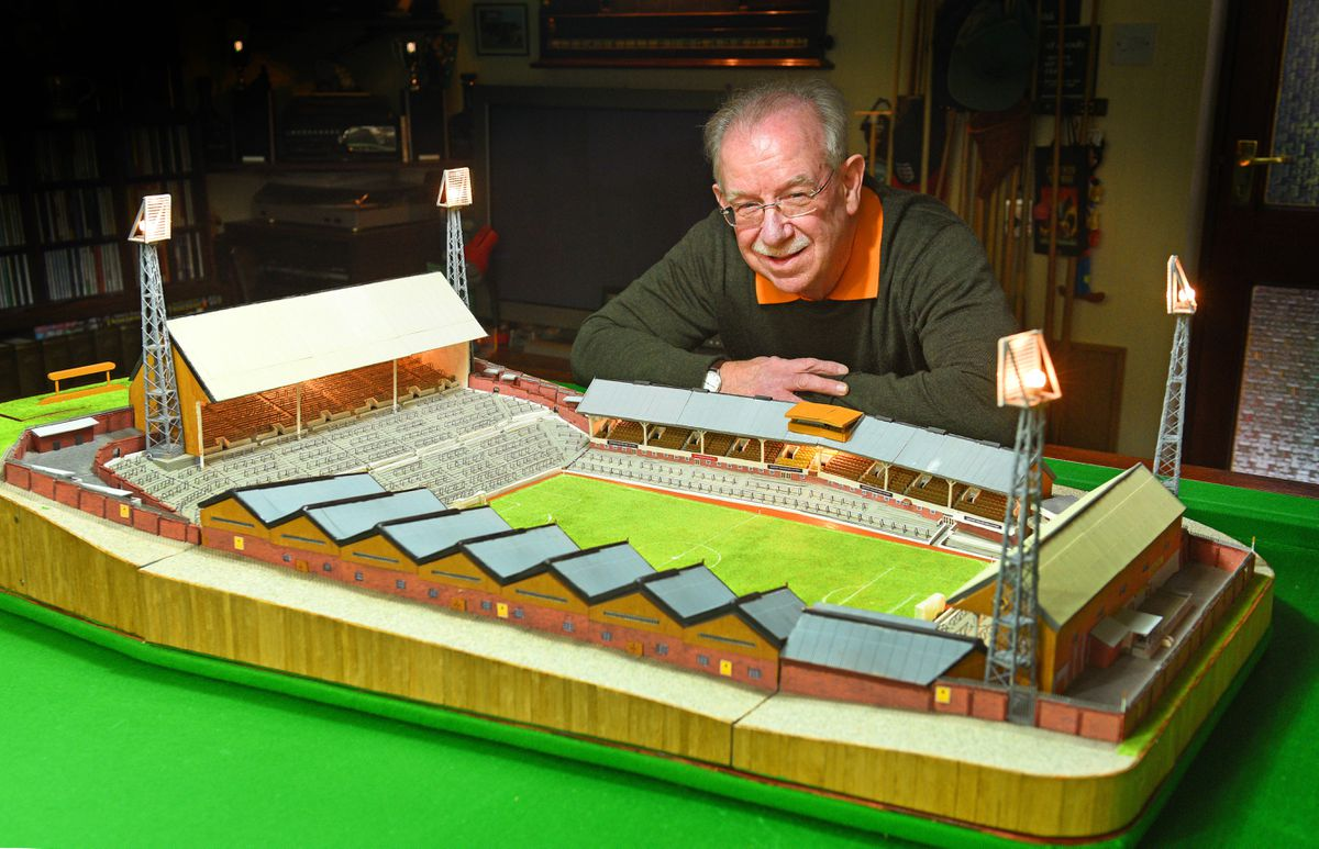 Chris with his mini Molineux