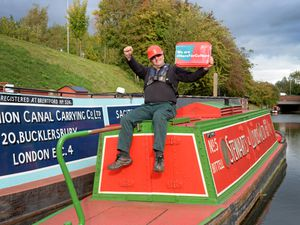 Dudley Canal and Tunnel Trust skipper Alan Chadwick celebrates the news