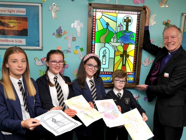School's new stained glass window unveiled