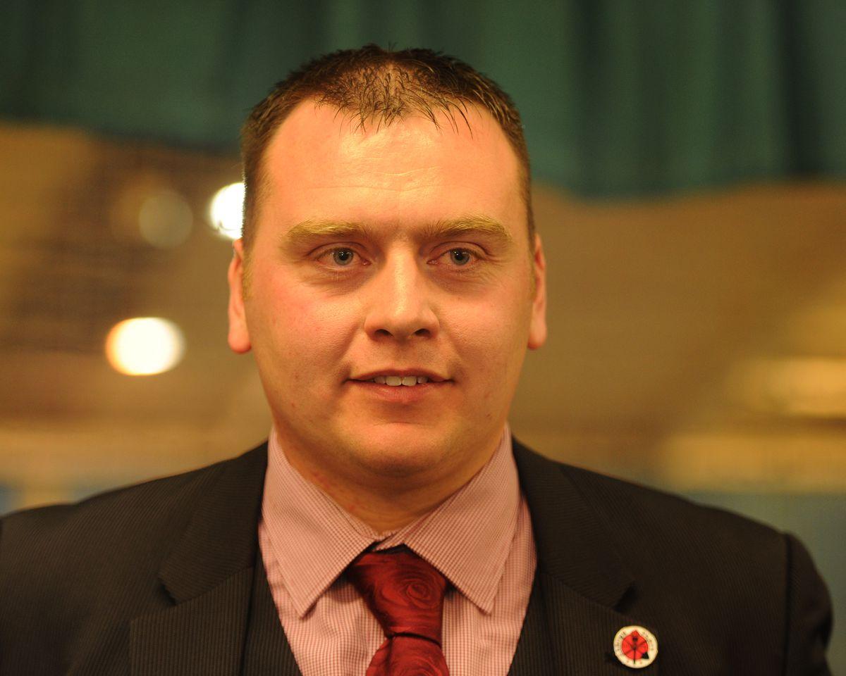 Labour's Luke Giles, who held his Wednesbury North seat