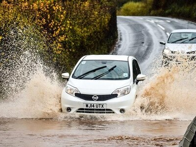 Two thirds of motorists would risk their lives driving through floodwater