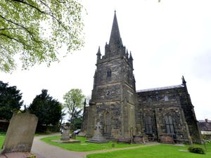 DUDLEY EXPRESS AND STAR STEVE LEATH COPYRIGHT EXPRESS AND STAR 14/05/2015  Pic at All Saints Church, Sedgley, where as part of the Ascension service some people went up the tower. With video. .