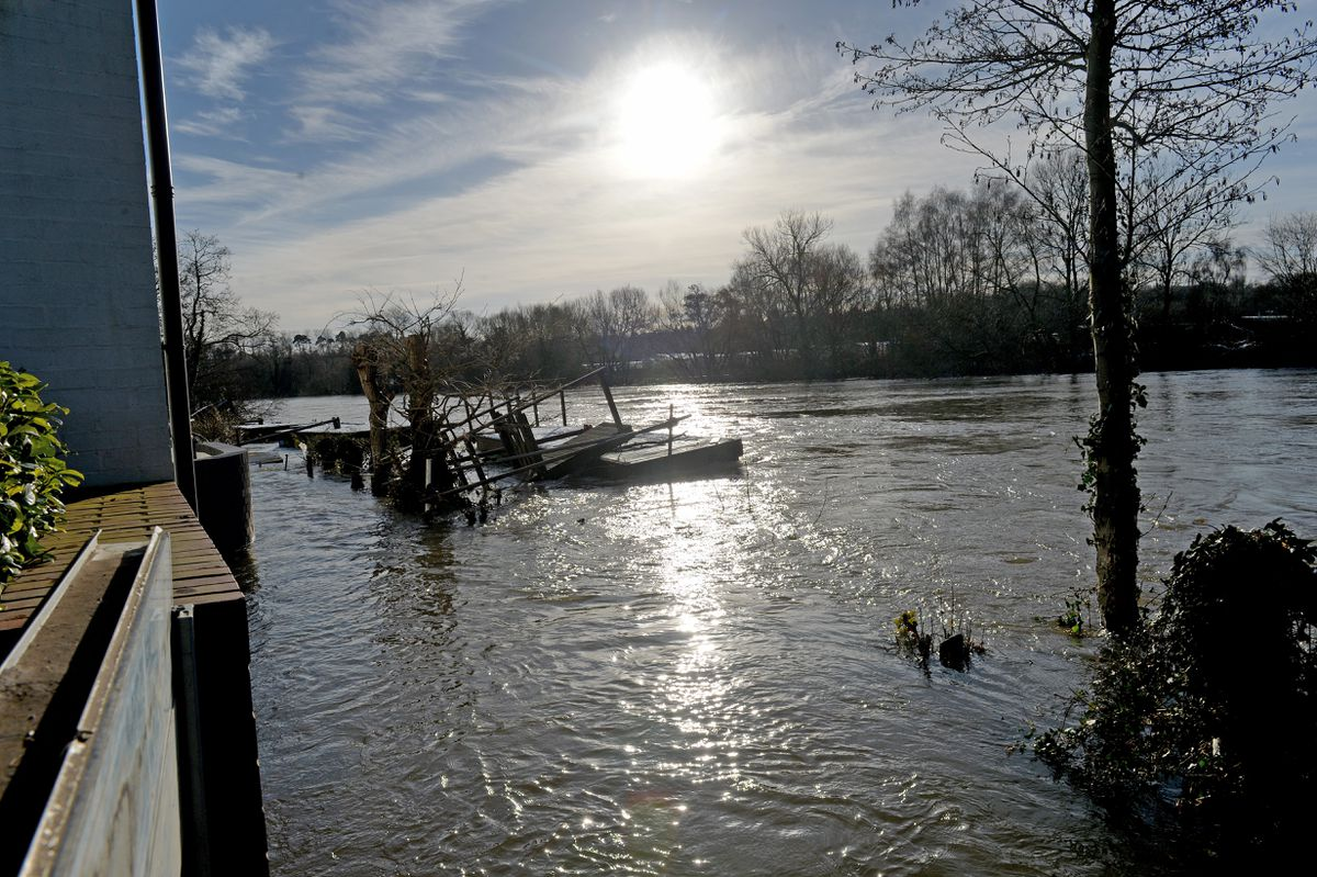 Flooding in the Stourport area this week