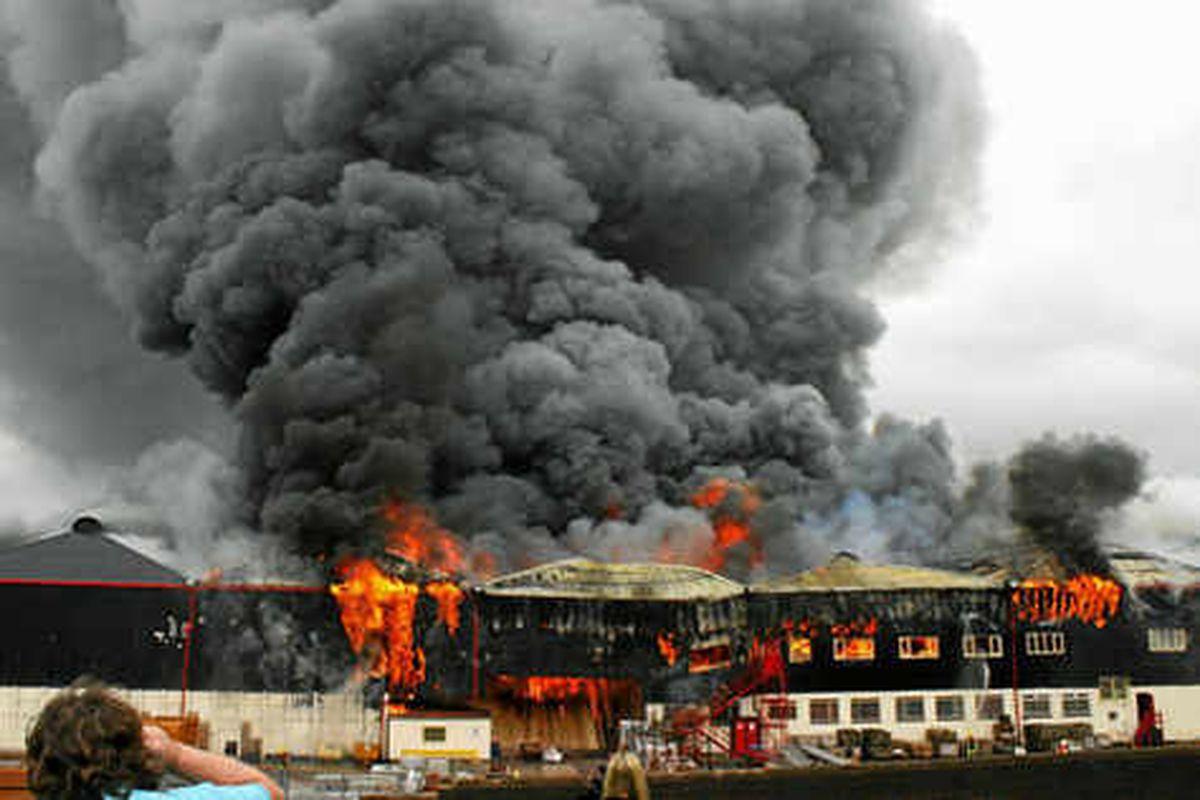 Huge blaze at Carvers building supplies in Wolverhampton