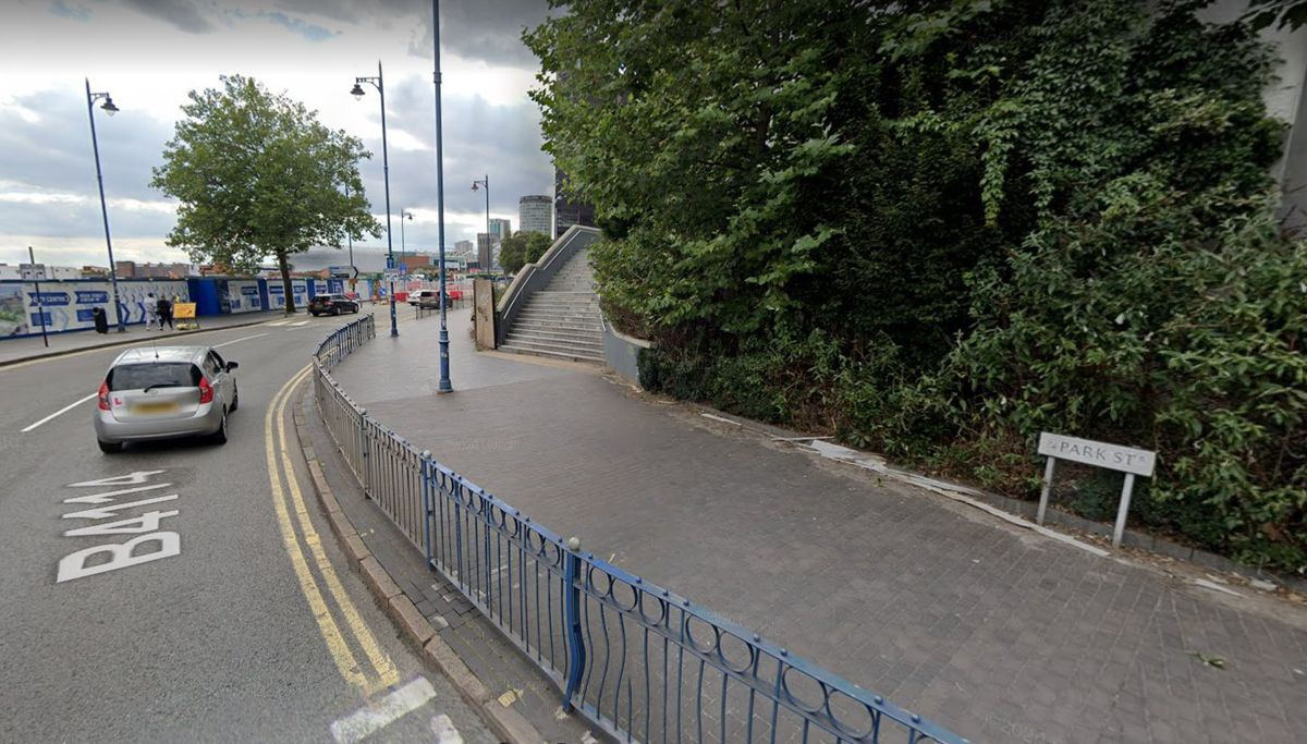 The remains were found under a paving slab on Park Street (Image by Google Street Map)