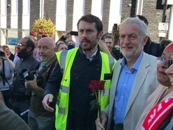 Labour leader Jeremy Corbyn makes whistle-stop visit to Halesowen - video