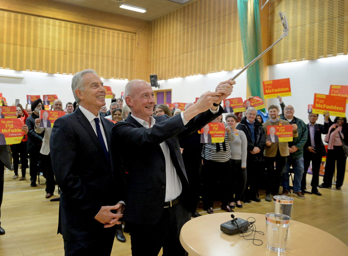 Selfie time for Pat McFadden and Tony Blair