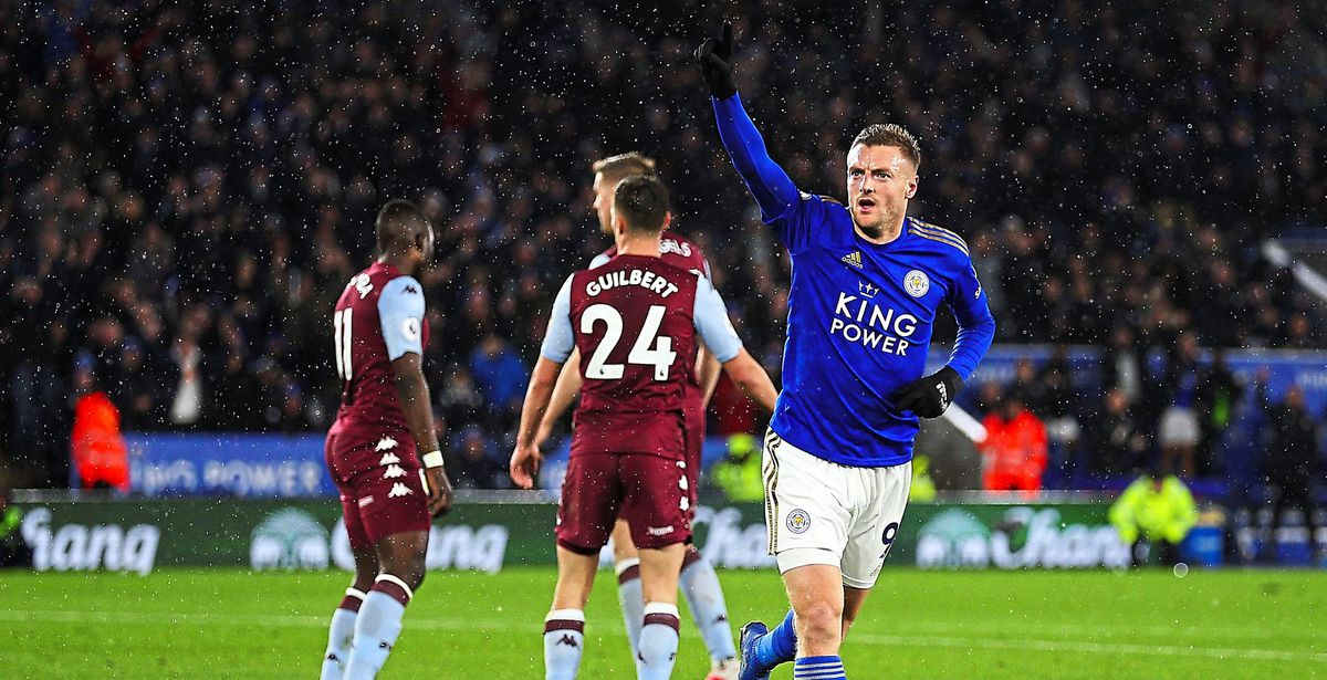 Jamie Vardy hit a double against Villa – who looked a relegation cert before lockdown