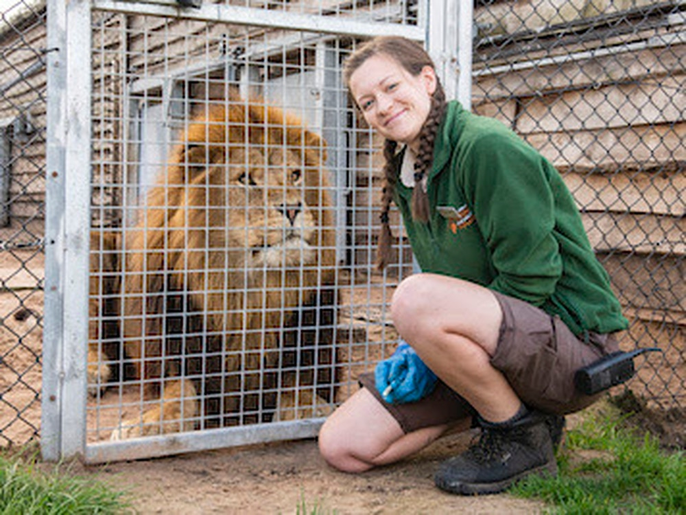 Keeper Kate is pride of West Midland Safari Park after being named 'top student'