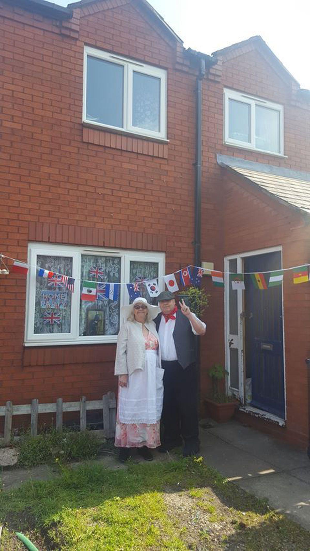 Alan and Linda celebrating in Rowley Regis