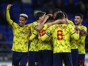 Callum Robinson of West Bromwich Albion celebrates after scoring a goal to make it 0-2 (Photo by Adam Fradgley - AMA/West Bromwich Albion FC via Getty Images).