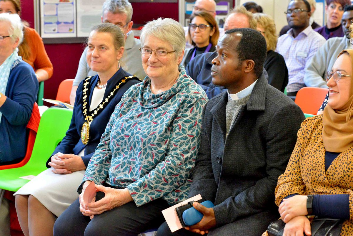 Sister Margaret Walsh and Father Damian Ozokwere were amongst the invited guests at the event